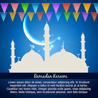 Ramadan kareem celebrazione sfondo vettoriale