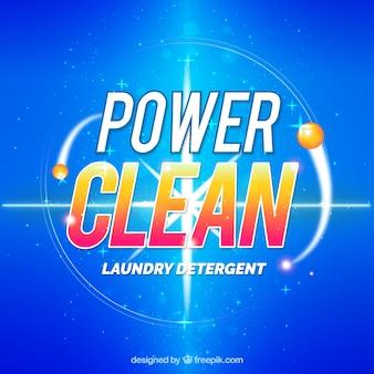 Blue detergent background
