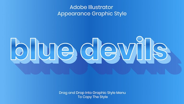 Blue devils text style effect template