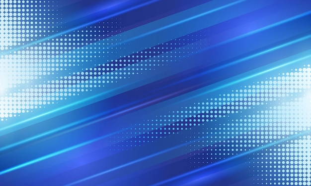 ハーフトーンの背景を持つ青い斜めの幾何学的なストライプ