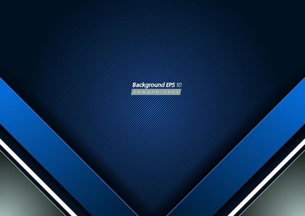 Синий фон диагональной линии, геометрические формы и градиент.