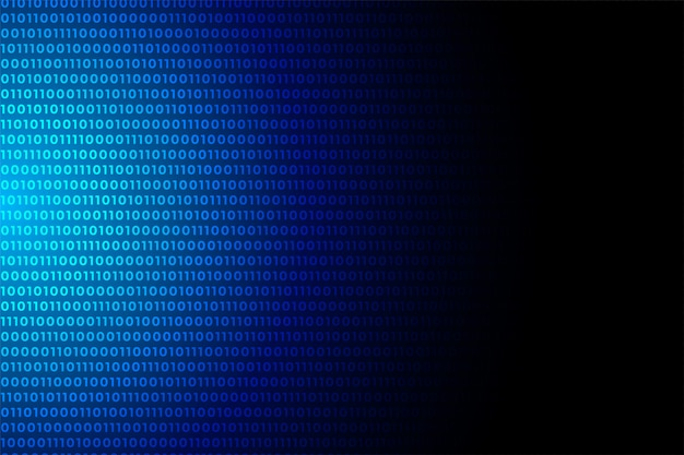 Blue digital binary code data numbers background design