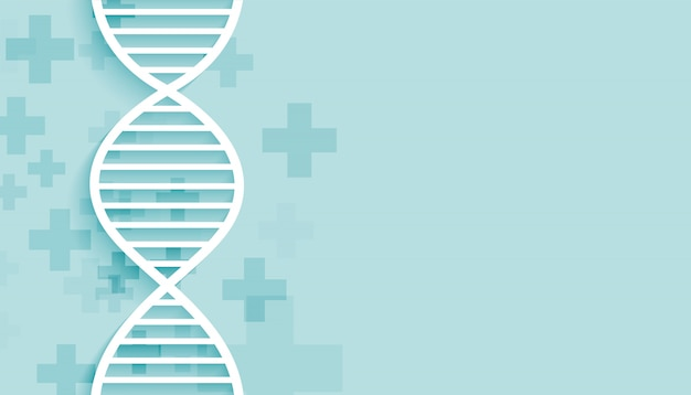 Blue dna background with medical and healthcare purpose