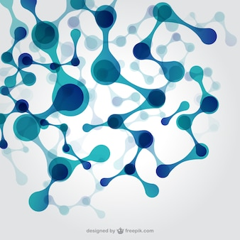 Blue DNA structure background