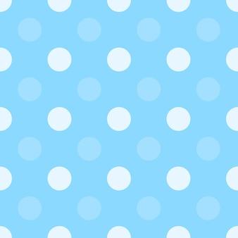青い点ハーフドロップ繰り返しシームレスパターン、シンプルなモノクロの背景