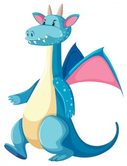A blue dragon character