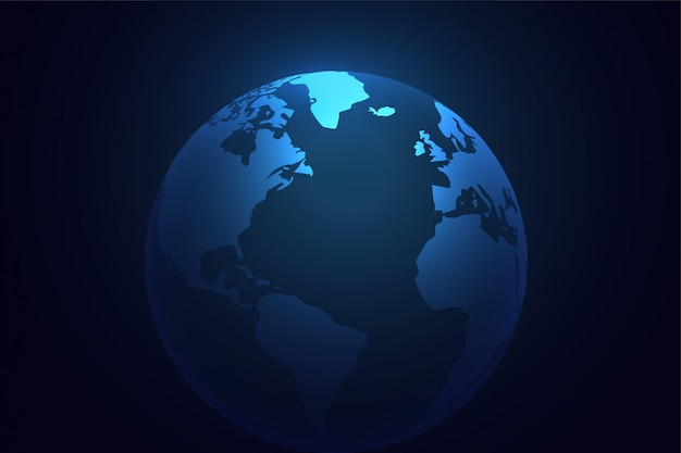 Blue earth planet world background