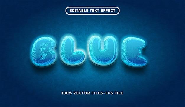 Blue editable text effect premium vectors