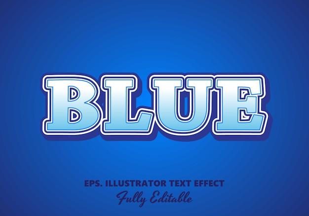 Blue  editable text effect