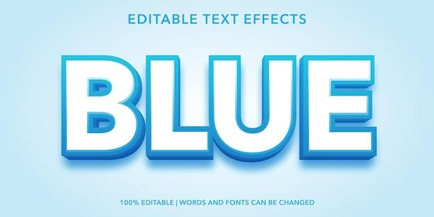 青の編集可能なテキスト効果
