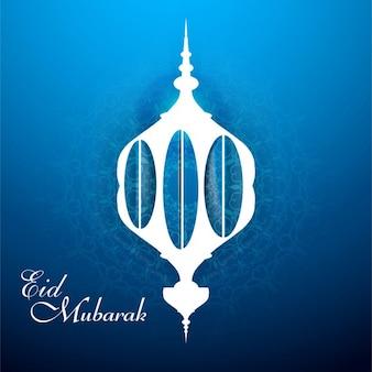 Blu eid mubarak sfondo