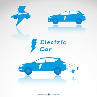 Blue electric cars
