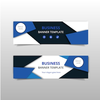 Blue elegant business banners