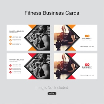 Blue elegant corporate card for fitness