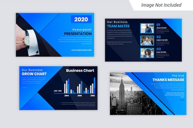 Blue element corporate business presentation slides design