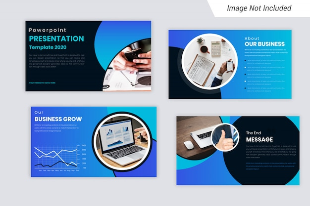 Blue element corporate business presentation slides design