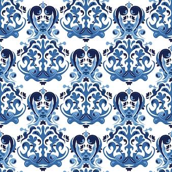 Blue elements pattern background
