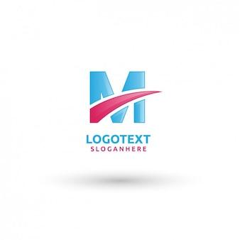 Blue em letter logo template