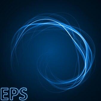 Синие энергетические линии.