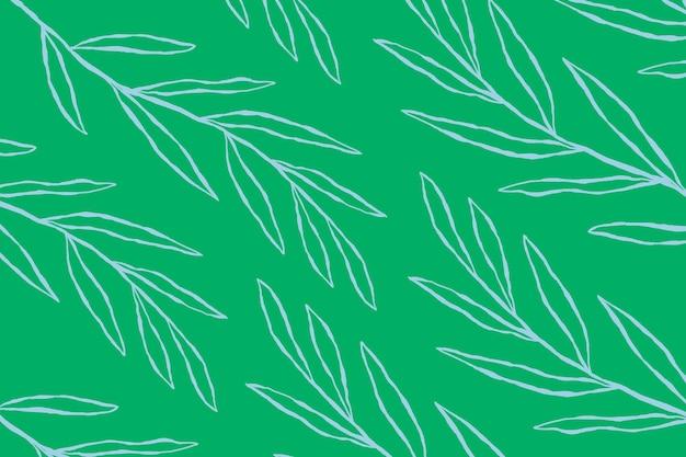 녹색 식물 배경에 파란색 유칼립투스 잎 패턴 벡터