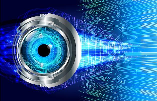 Blue eye cyber circuit future technology  background