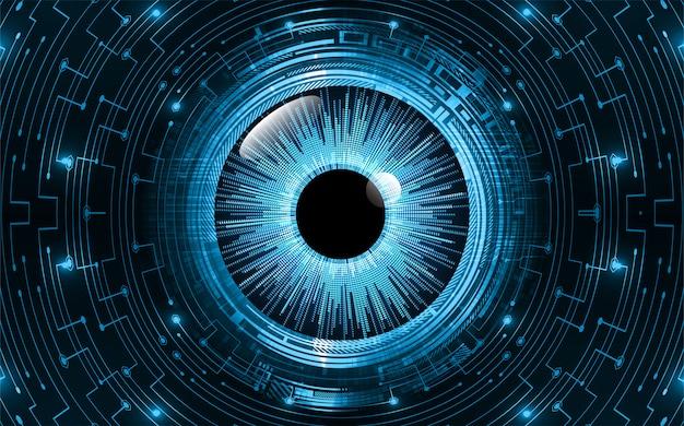青い目のサイバー回路将来の技術コンセプトの背景