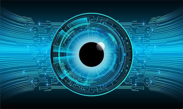 ブルーアイサイバー回路の将来の技術概念の背景