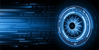 Blue eye cyber future technology concept background