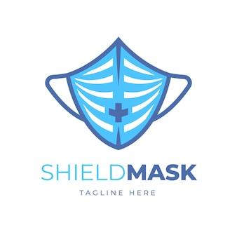 青いフェイスマスクのロゴ