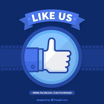 Blue facebook background in flat design