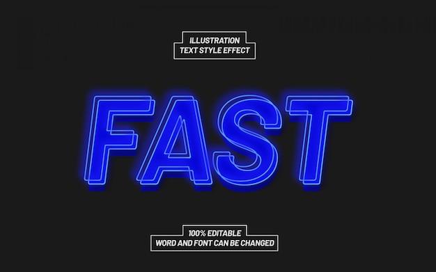 Синий быстрый световой эффект стиля текста