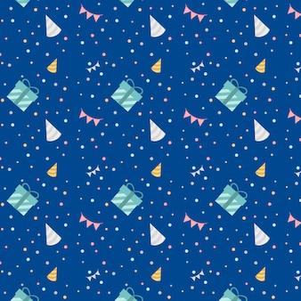 Blue festive birthday design vector