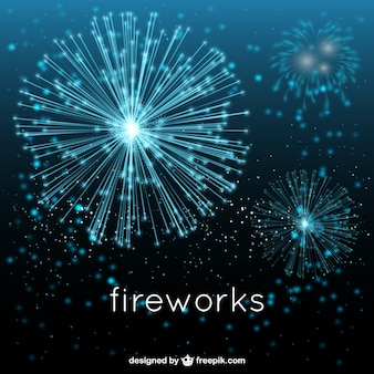 Blue fireworks show