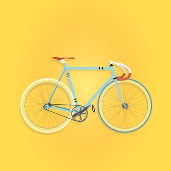 青色固定ギア自転車