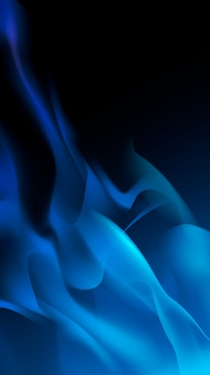 Blue flame background
