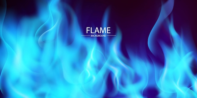 Blue flame and has a black background
