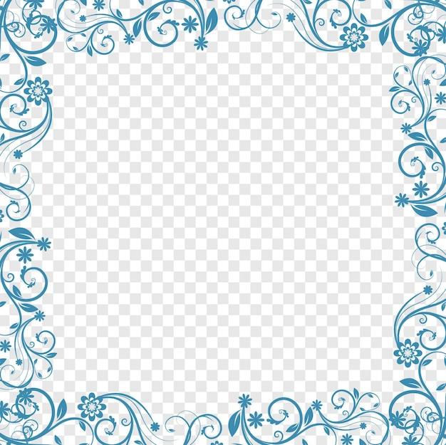 푸른 꽃 배경