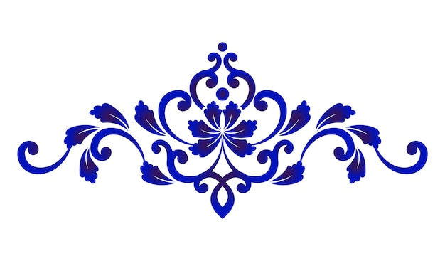Blue floral decorative