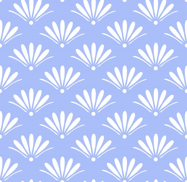 Blue floral pattern seamless