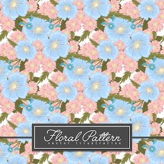 イラストの青い花の背景