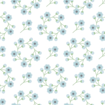 Blue flower decorate background seamless pattern