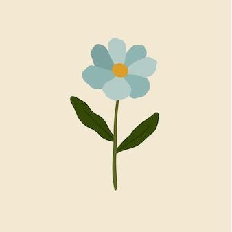 Синие цветы символ цветочные векторные иллюстрации