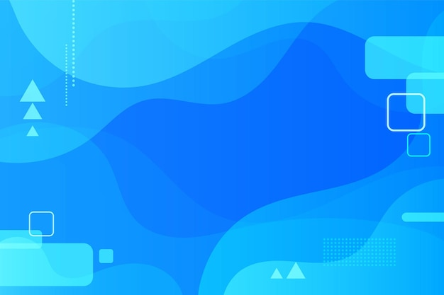 Blue fluid shapes composition background