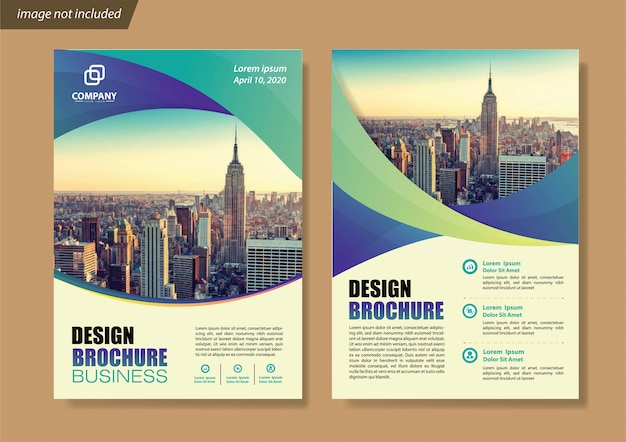 Blue flyer business template for brochure company