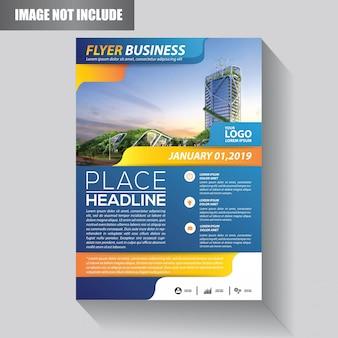 Blue flyer template with modern idea