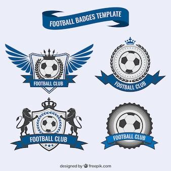 Blue football badges