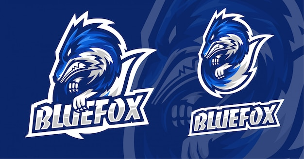Blue fox esport logo design