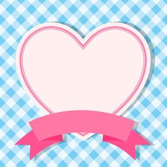 Синяя рамка с сердцем