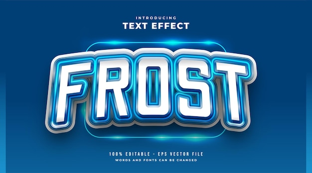 Blue frost e-sport text style effect. editable text style effect