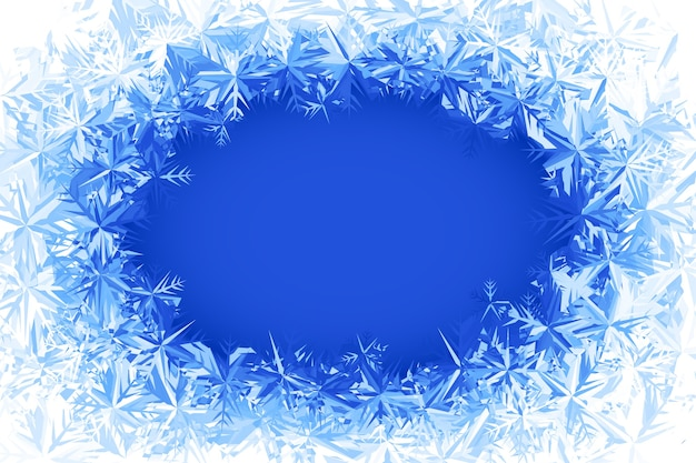 Blue frosted window illustration